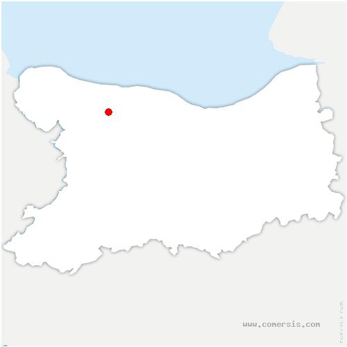 carte de localisation de Saint-Martin-des-Entrées
