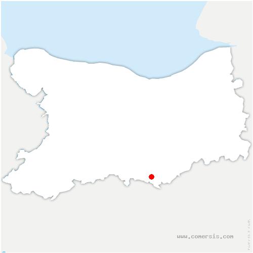 carte de localisation de Saint-Pierre-du-Bû