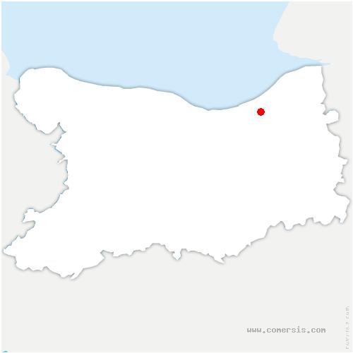 carte de localisation de Saint-Vaast-en-Auge