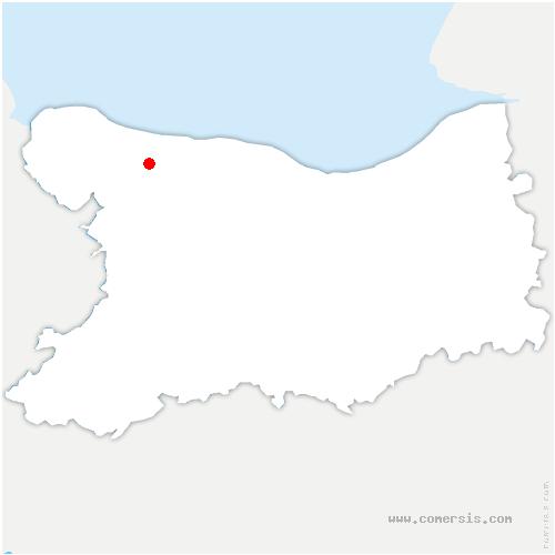 carte de localisation de Tour-en-Bessin