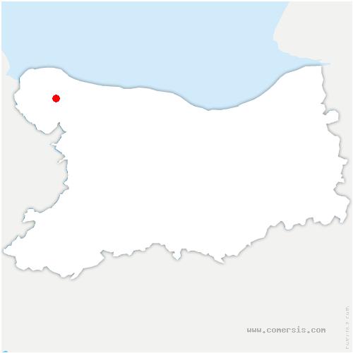 carte de localisation de Trévières