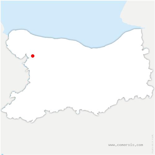 carte de localisation de Vaubadon