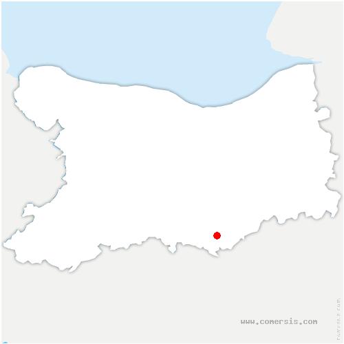 carte de localisation de Villy-lez-Falaise