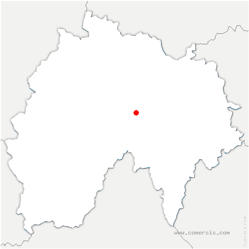 carte de localisation de Albepierre-Bredons