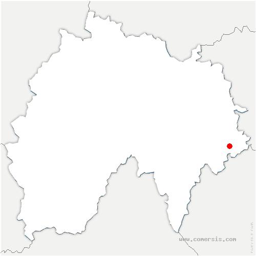 carte de localisation de Chaliers