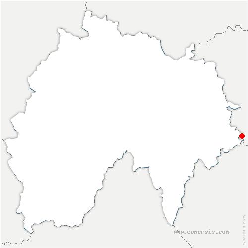 carte de localisation de Clavières
