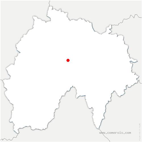 carte de localisation de Lavigerie