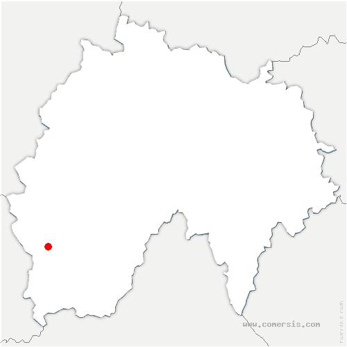 carte de localisation de Le Rouget-Pers