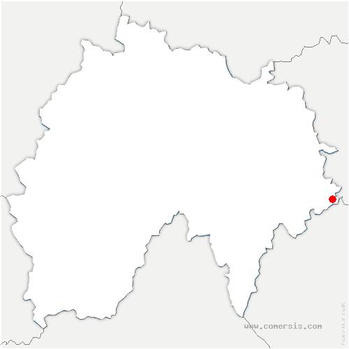 carte de localisation de Lorcières