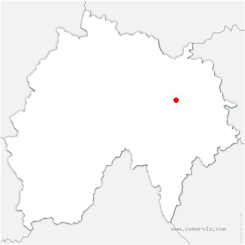 carte de localisation de Neussargues en Pinatelle