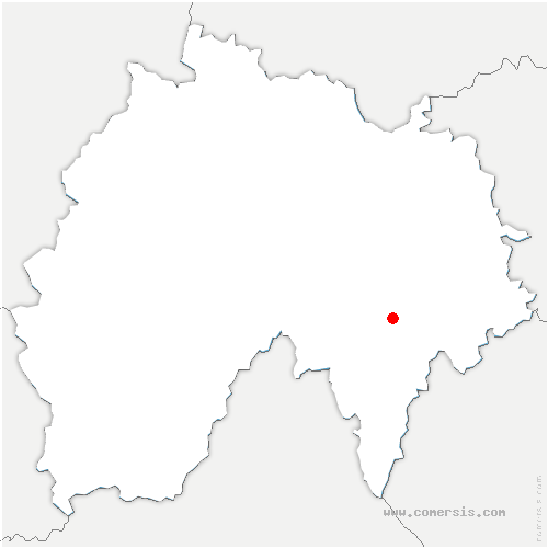 carte de localisation de Neuvéglise-sur-Truyère