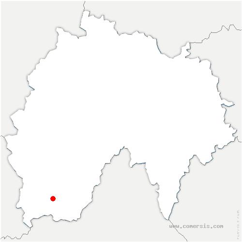 carte de localisation de Puycapel