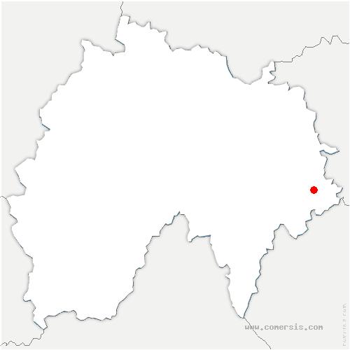 carte de localisation de Ruynes-en-Margeride