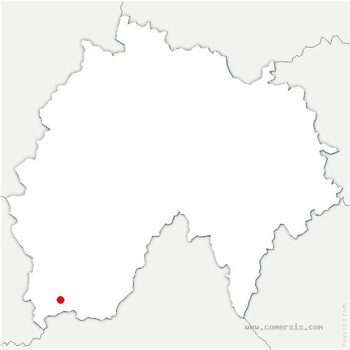 carte de localisation de Saint-Constant-Fournoulès