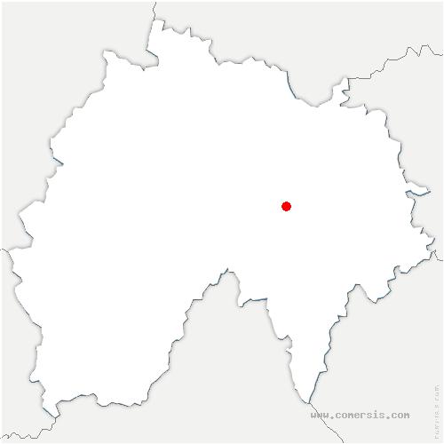carte de localisation de Ussel