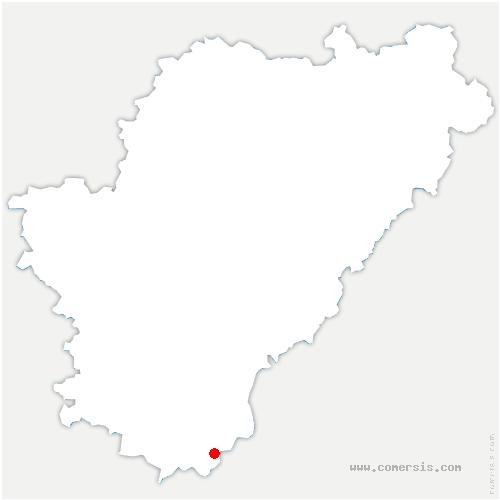 carte de localisation de Aubeterre-sur-Dronne