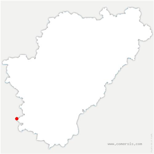 carte de localisation de Baignes-Sainte-Radegonde