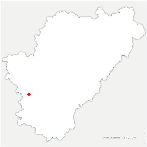 carte de localisation de Barbezieux-Saint-Hilaire