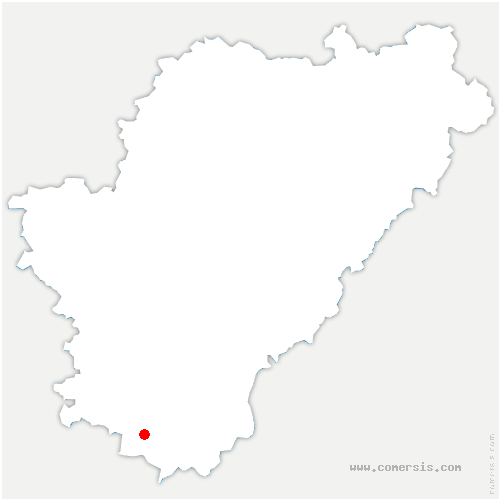 carte de localisation de Bardenac
