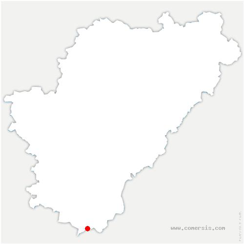 carte de localisation de Bazac