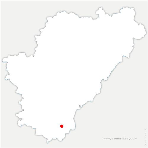 carte de localisation de Bellon