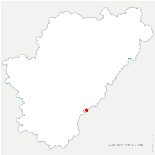 carte de localisation de Blanzaguet-Saint-Cybard