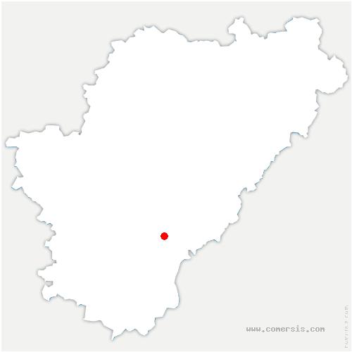 carte de localisation de Boisné-la-Tude