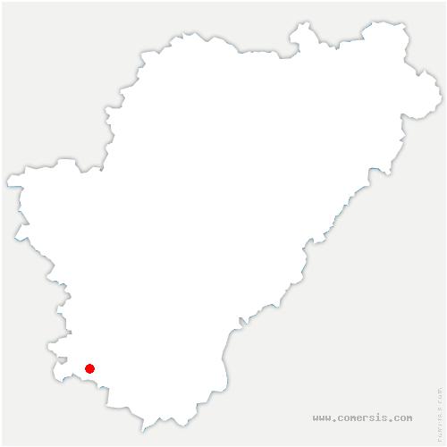 carte de localisation de Bors (Canton de Baignes-Sainte-Radegonde)