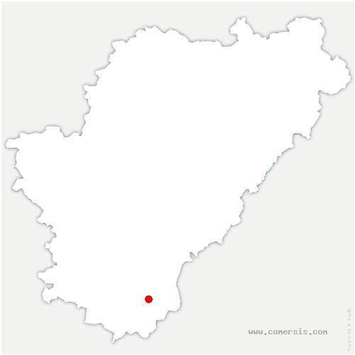 carte de localisation de Bors (Canton de Montmoreau-Saint-Cybard)