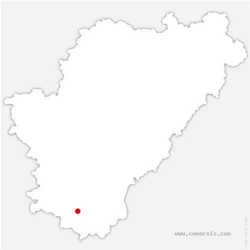 carte de localisation de Brie-sous-Chalais