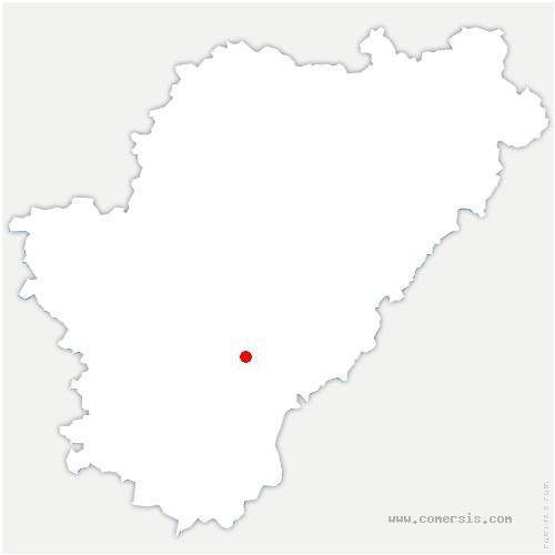 carte de localisation de Chadurie