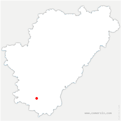 carte de localisation de Châtignac