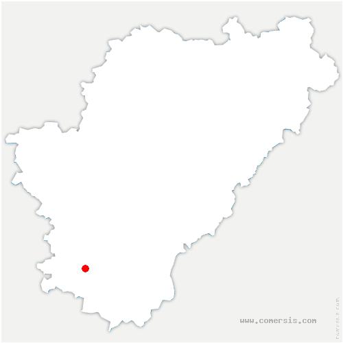 carte de localisation de Chillac