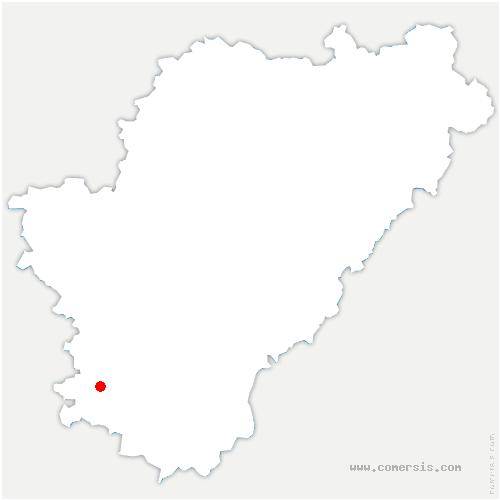 carte de localisation de Condéon