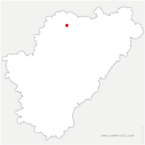 carte de localisation de Courcôme