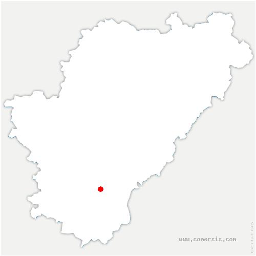 carte de localisation de Courgeac