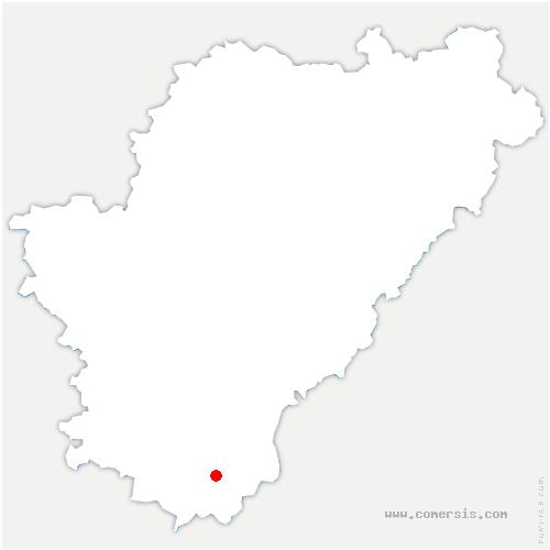 carte de localisation de Courlac