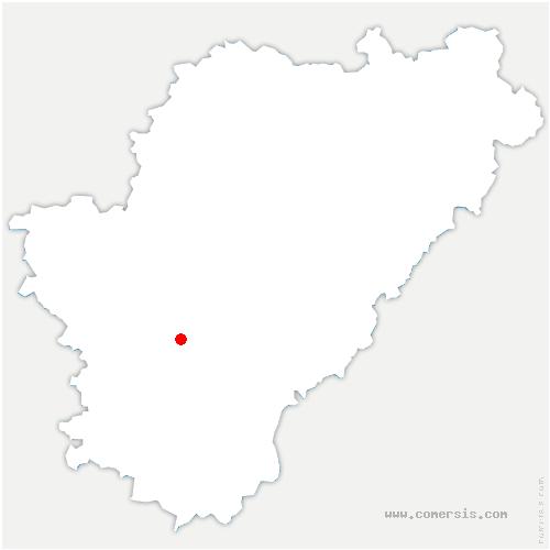 carte de localisation de Étriac