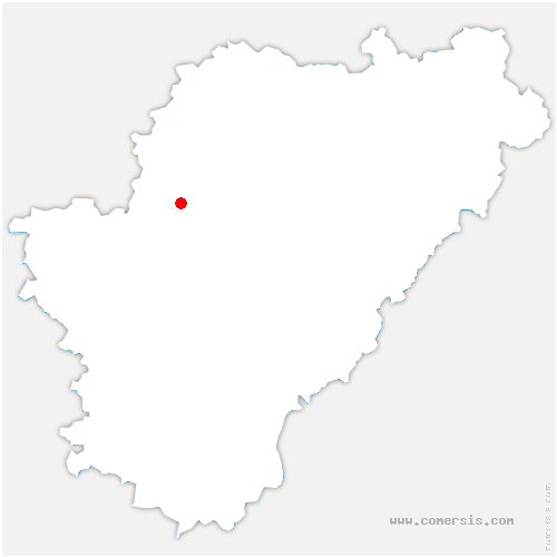 carte de localisation de Genac-Bignac