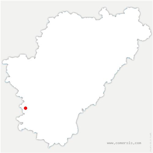 carte de localisation de Guimps