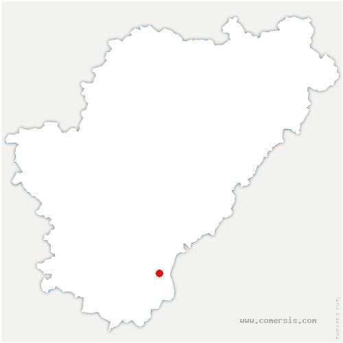 carte de localisation de Juignac