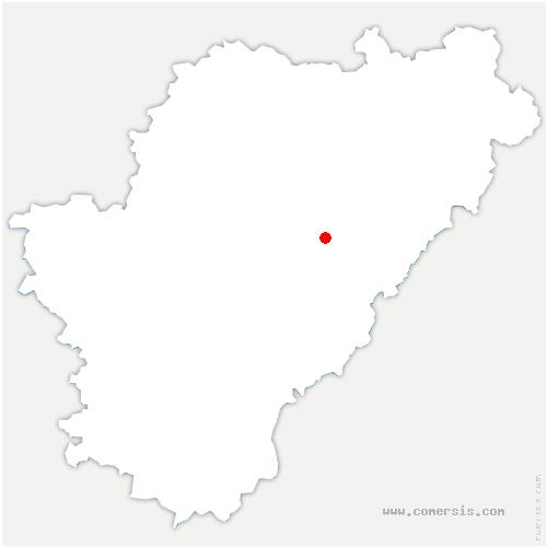carte de localisation de La Rochefoucauld-en-Angoumois