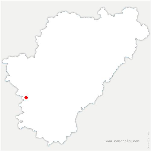 carte de localisation de Lagarde-sur-le-Né