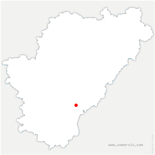 carte de localisation de Magnac-Lavalette-Villars