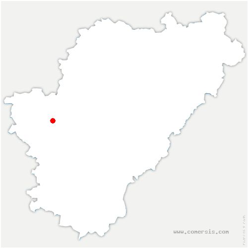 carte de localisation de Mainxe-Gondeville