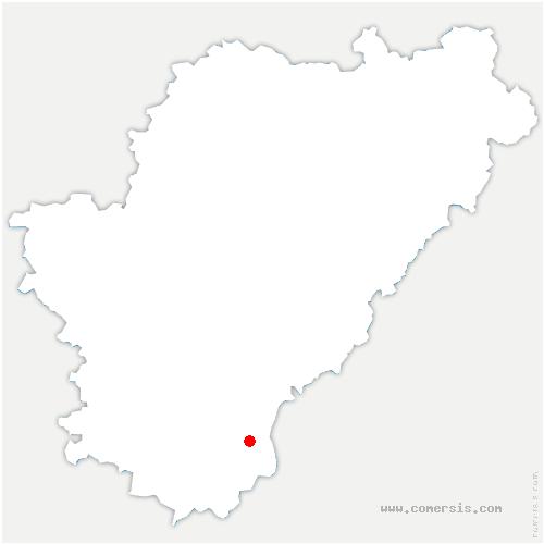 carte de localisation de Montignac-le-Coq
