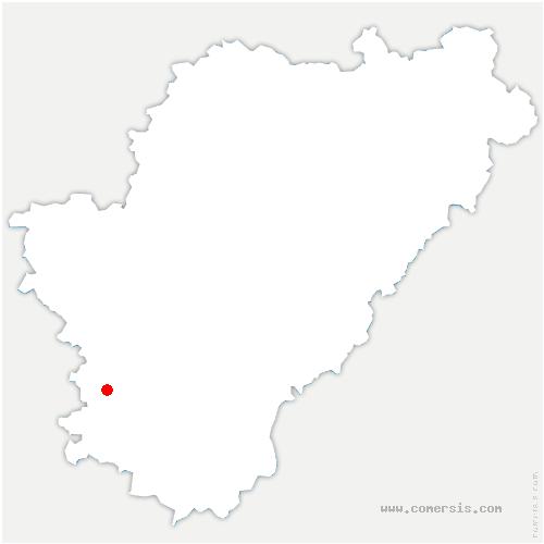 carte de localisation de Montmérac
