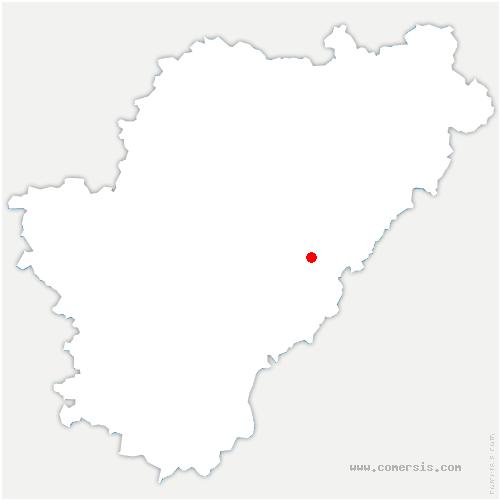 carte de localisation de Moulins-sur-Tardoire