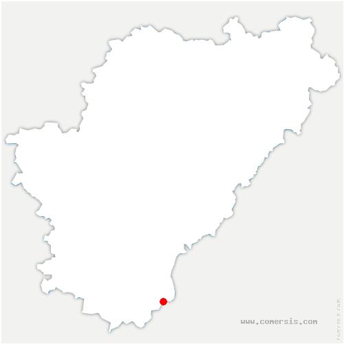 carte de localisation de Nabinaud