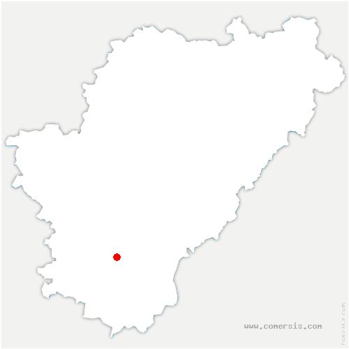 carte de localisation de Nonac